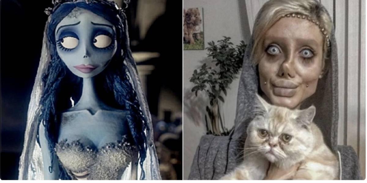 Una joven iraní se sometió a más de 50 cirugías para parecerse a Angelina Jolie