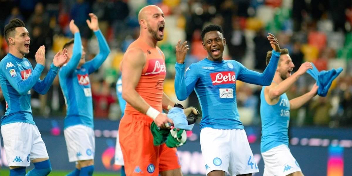 Napoli vence a Udinesey recupera el liderato de la Serie A