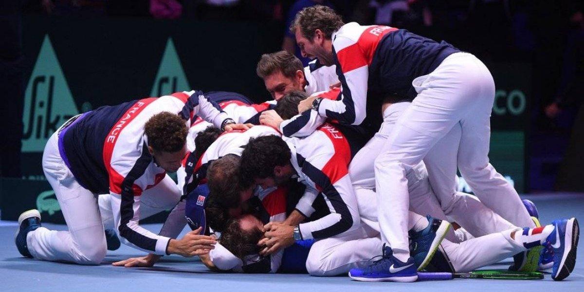 Francia vence a Bélgica y gana Copa Davis
