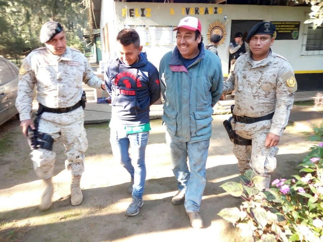 incautacion de pinabete detenidos Gerbert Leonel Alemán Rodríguez Esder Romario Ruiz Ico 1