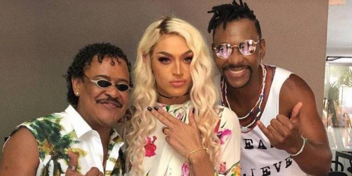 'A nova loira do Tchan é linda', diz Pabllo Vittar em foto com Compadre Washington e Beto Jamaica