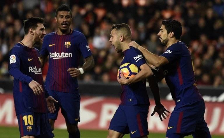 Gol de Jordi Alba contra el Valencia