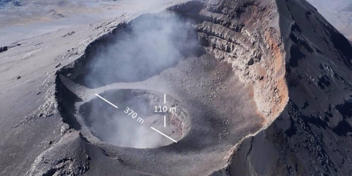 Hallan nuevocráter dentro del volcán Popocatépetl