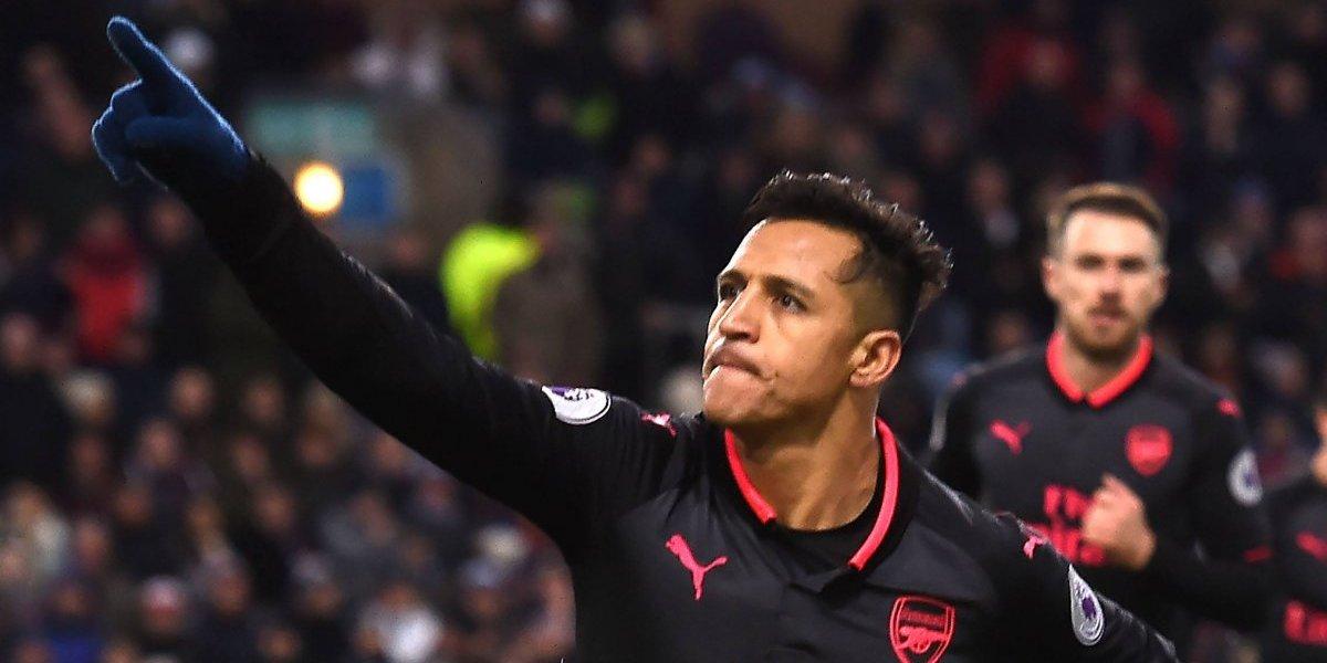 Arsenal ganó a Burnley al último minuto con gol de Alexis Sánchez