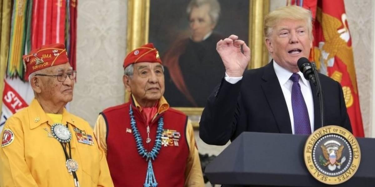 Estados Unidos: la polémica referencia que Donald Trump hizo de Pocahontas frente a un grupo de veteranos indígenas