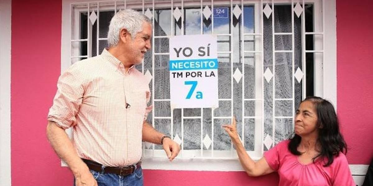 """Peñalosa tras lluvias: """"es más evidente la necesidad de TransMilenio por la Séptima"""""""