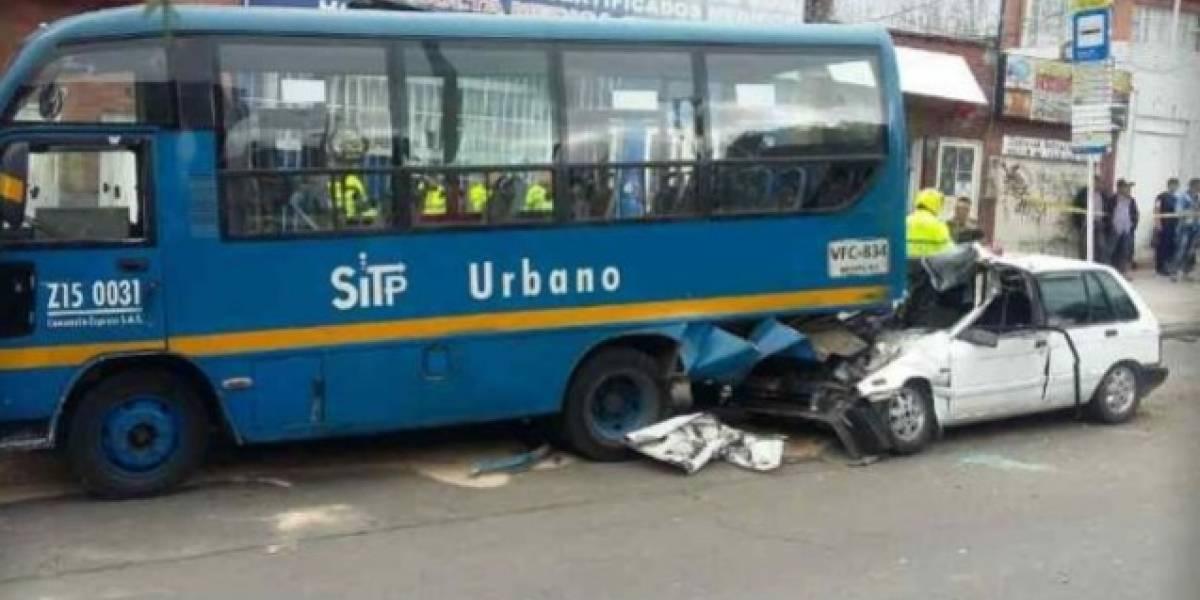 Una persona muerta en accidente de tránsito de un SITP