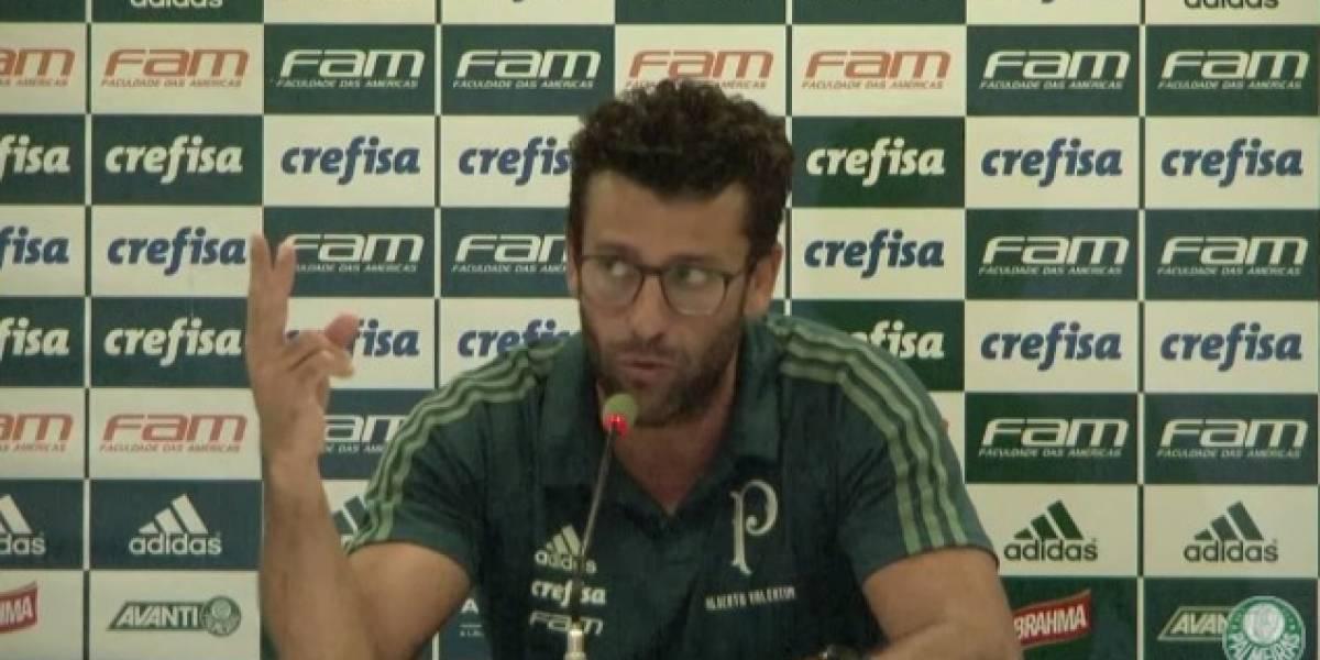 Técnico Alberto Valentim fala após vitória do Palmeiras