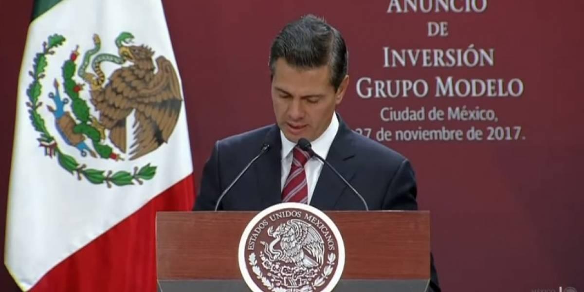 Inversiones hechas en México son señal de que el rumbo económico es el correcto: Peña Nieto