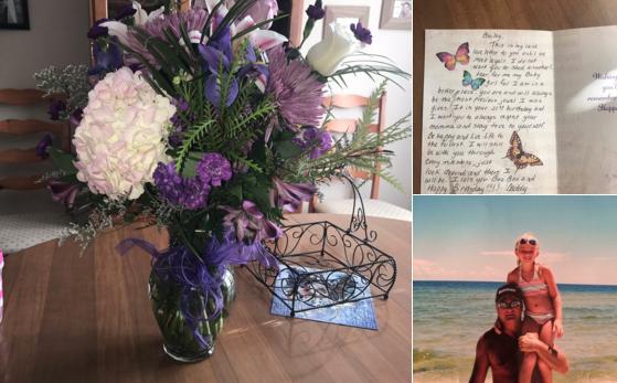 Pese a que murió hace cinco años, padre sigue enviándole flores a su hija en su cumpleaños