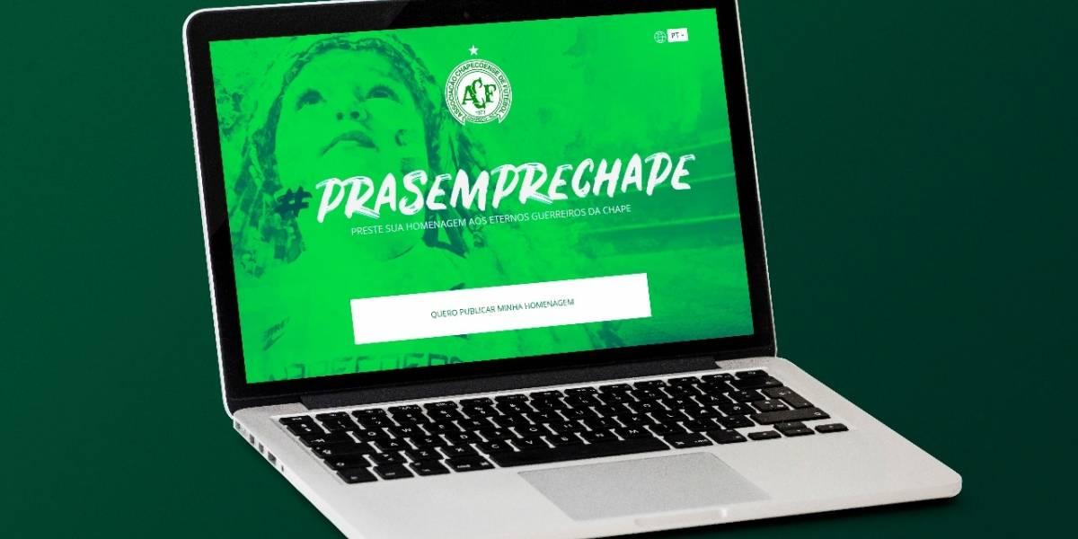 Chapecoense lança portal para homenagear vítimas de tragédia