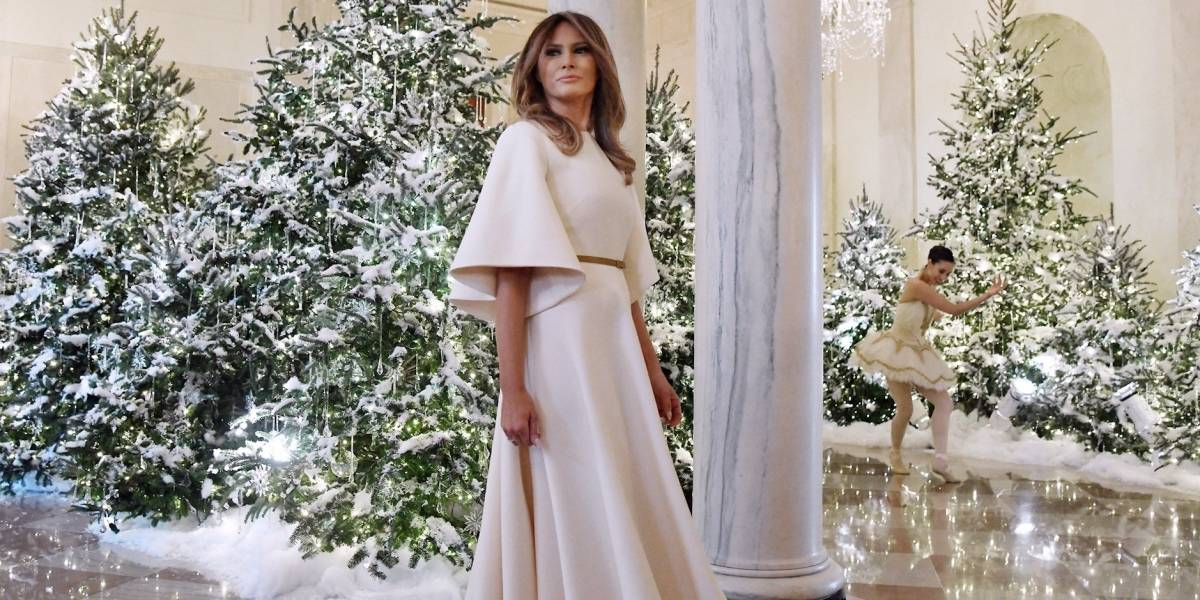 Melania Trump enseña su decoración navideña en Casa Blanca