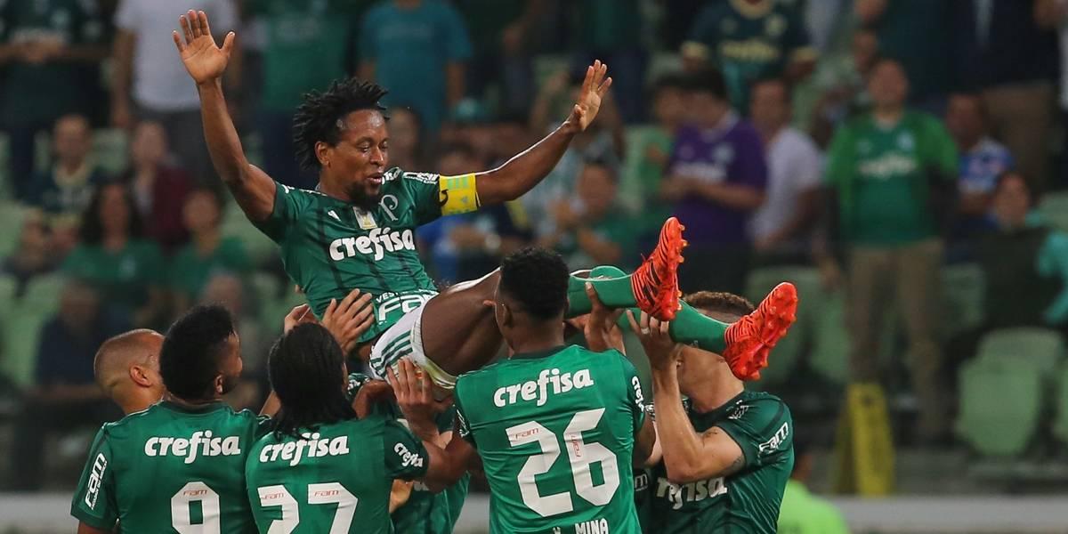 Zé Roberto se despede da torcida do Palmeiras com vitória