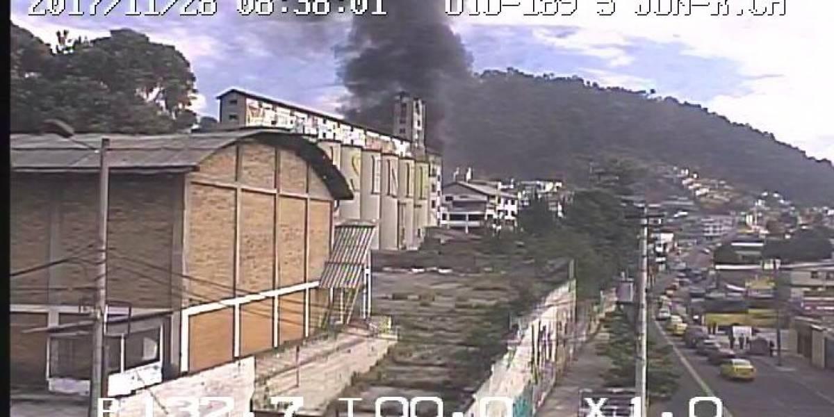 Se registra conato de incendio de contenedores de brea en Quito