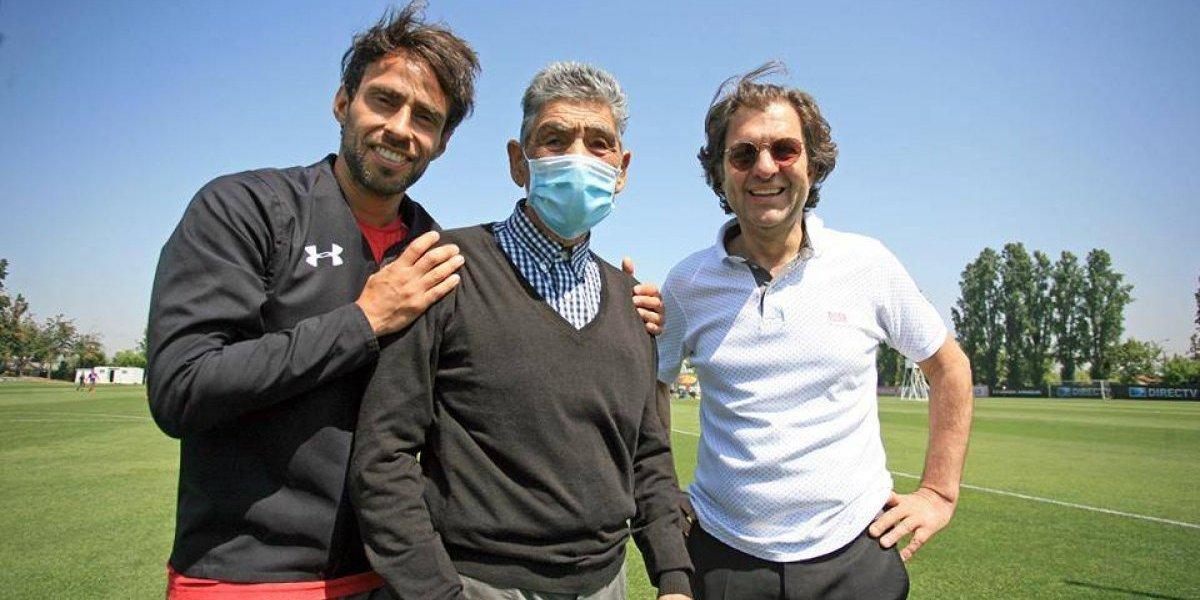 Colo Colo se llena de energía con emotiva visita de Jorge Toro al Monumental