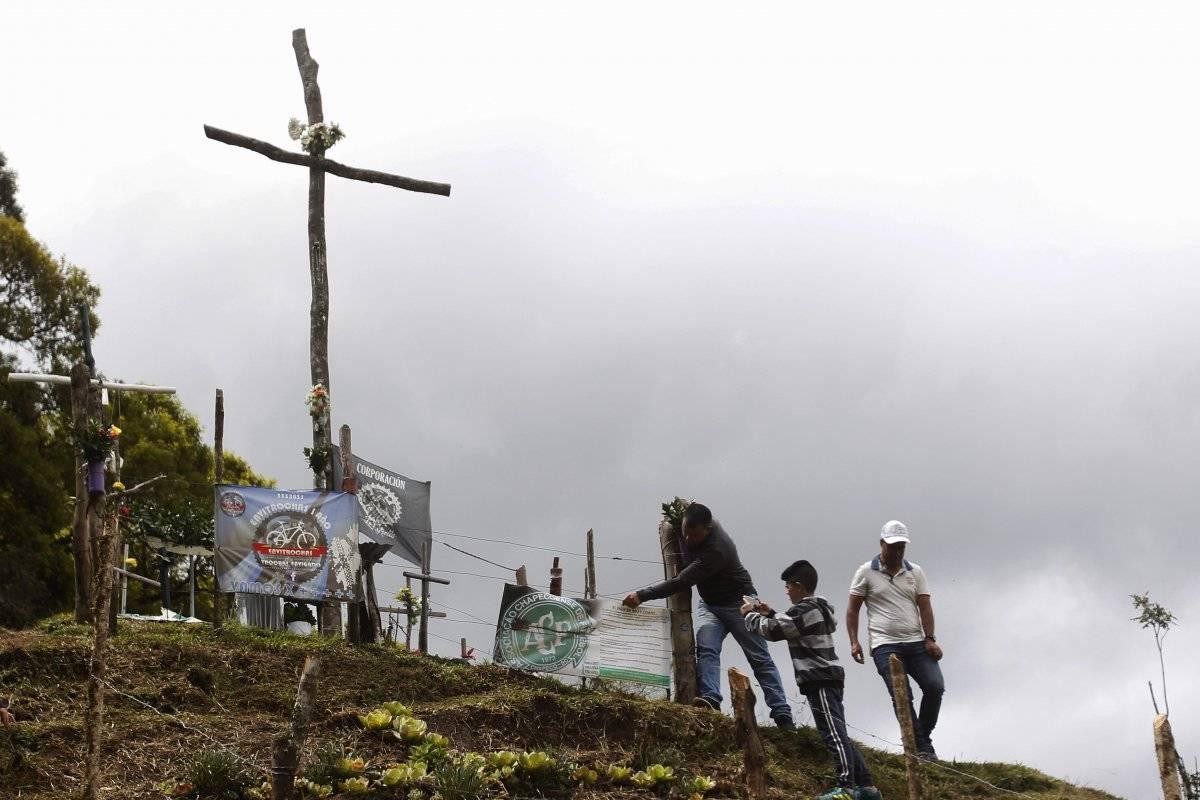 EFE Lugar del accidente del Chapecoense