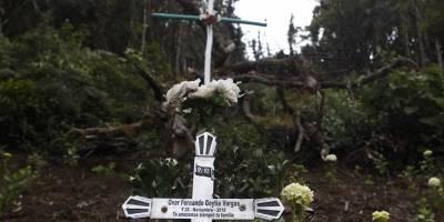 Lugar del accidente del Chapecoense