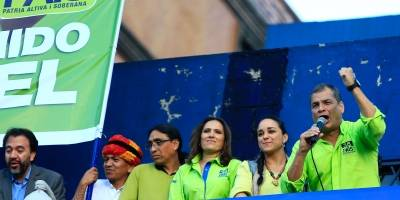 Rafael Correa en Quito
