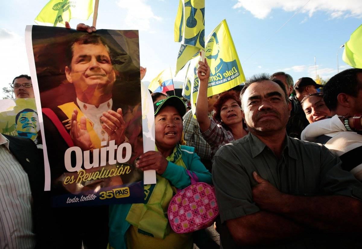 Rafael Correa en Quito EFE