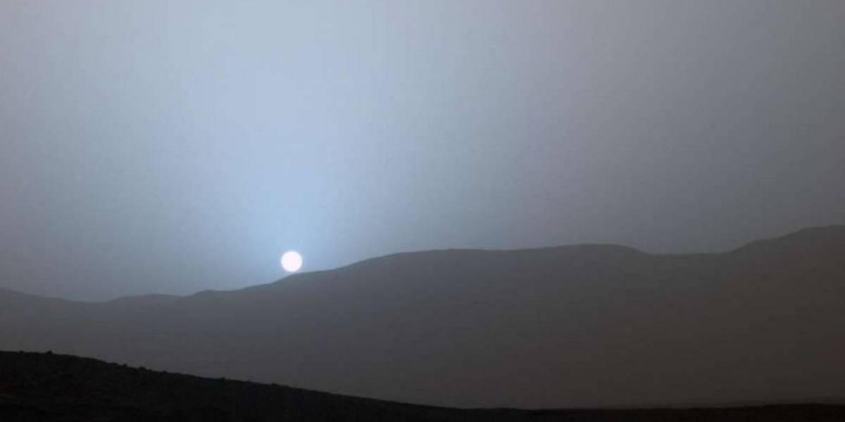 Nasa divulga imagens do pôr do sol em Marte