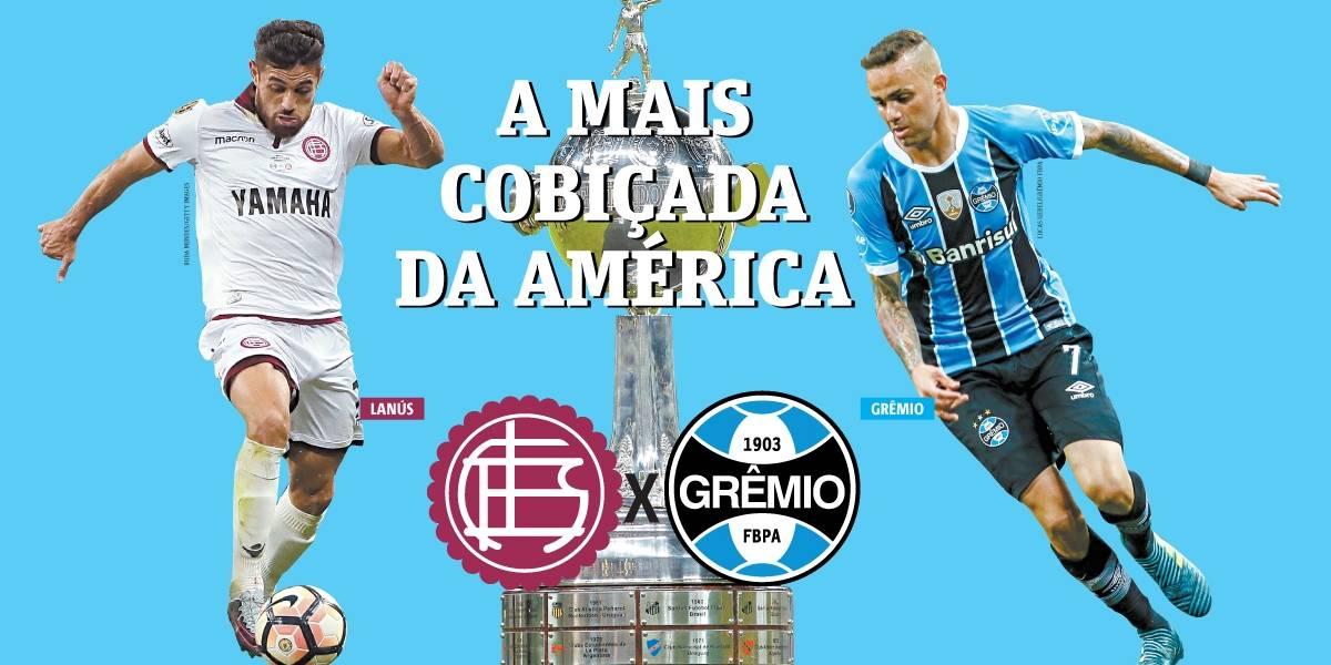 Com a vantagem, Grêmio enfrenta o Lanús pelo título da Libertadores