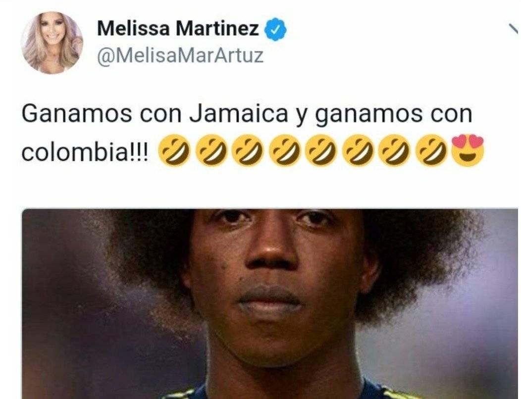 Captura de pantalla Twitter Melissa Martínez