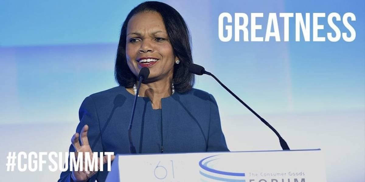 La corrupción es el impuesto para los pobres: Condoleezza Rice