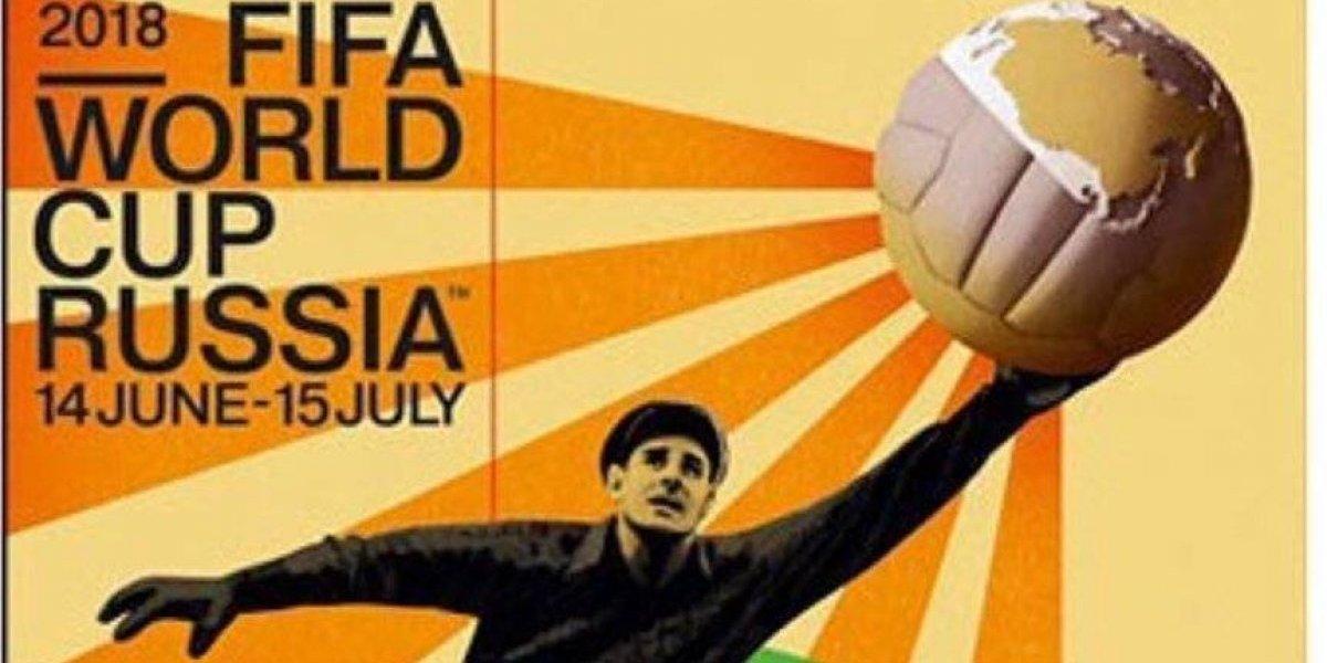 Revelan cartel del Mundial de Rusia 2018 con homenaje a Lev Yashin