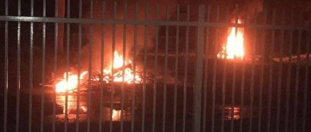Supuesto fuego en la carretera 102 en Mayagüez, foto tomada por el medio La Isla Oeste.