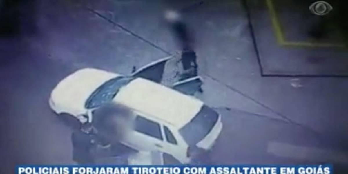Policiais forjam tiroteio com bandido em Goiás