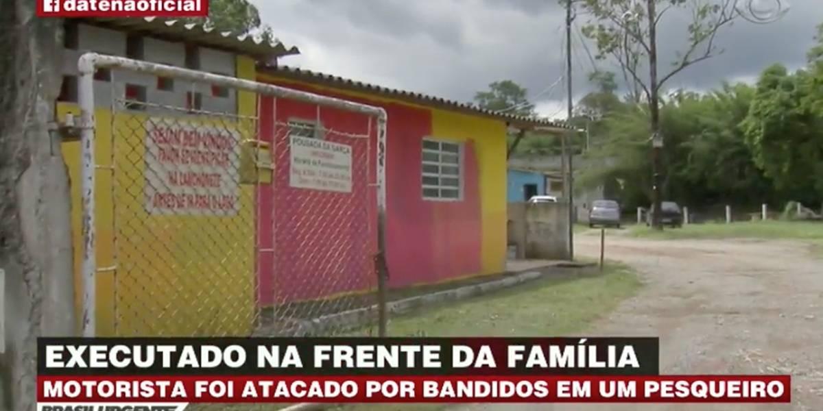 Motorista é morto em pesqueiro na Grande São Paulo