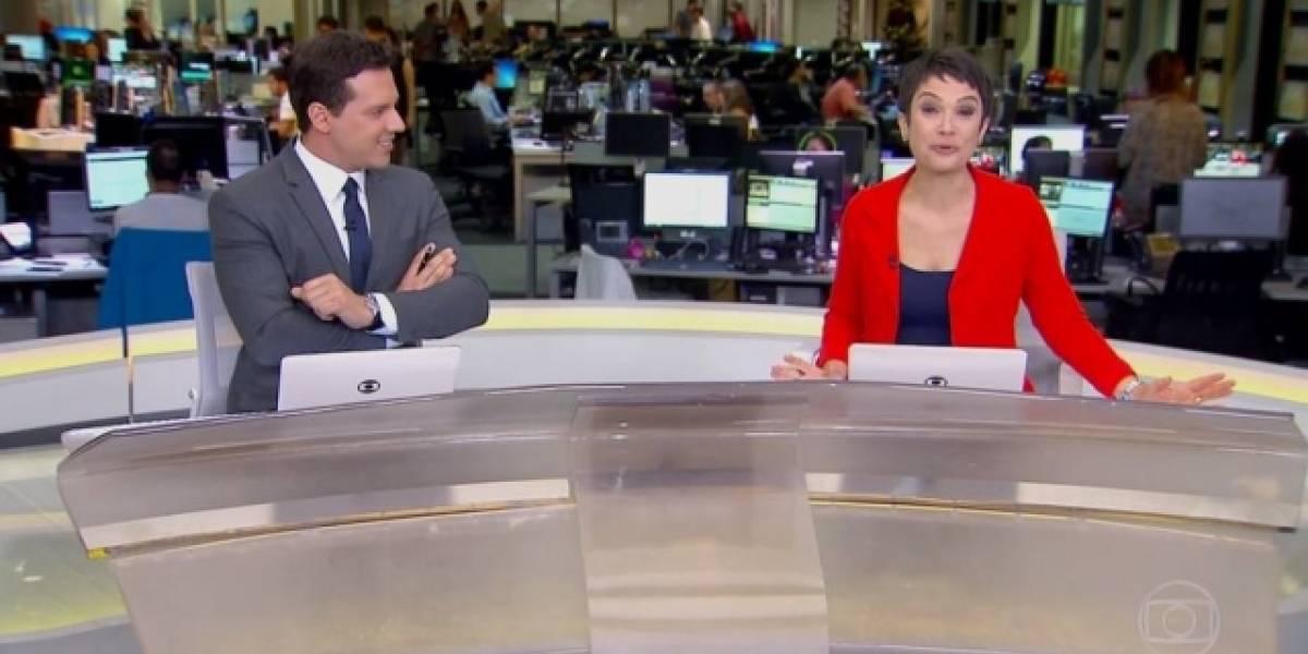 Sandra Annenberg faz declaração para Jô Soares durante Jornal Hoje: 'Eu te amo!'