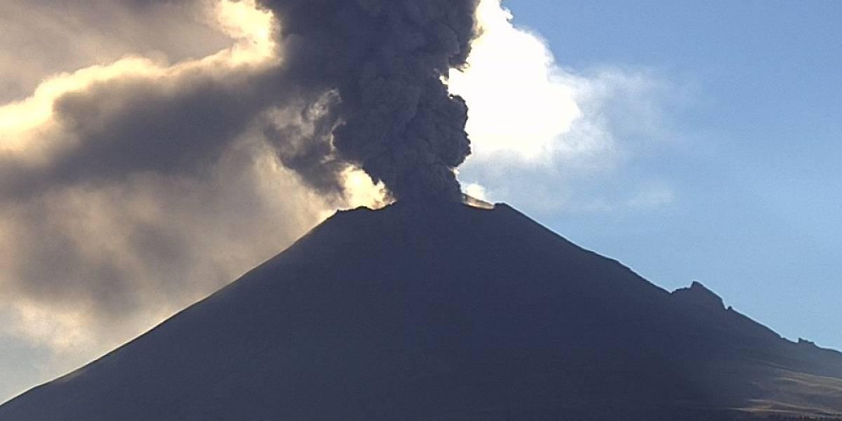 Popocatépetl tuvo 725 exhalaciones y cinco sismos en últimas horas