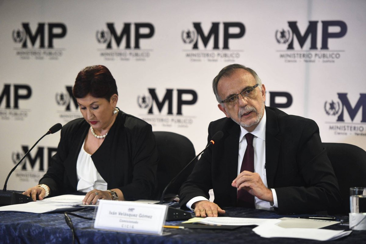 Thelma Aldana e Iván Velásquez
