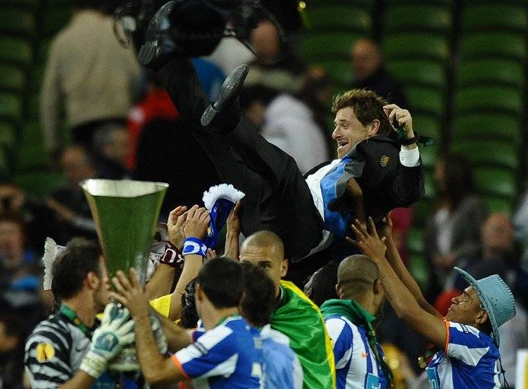 Andre Villas-Boas en los festejos de la Europa League 2011 / Foto: AFP
