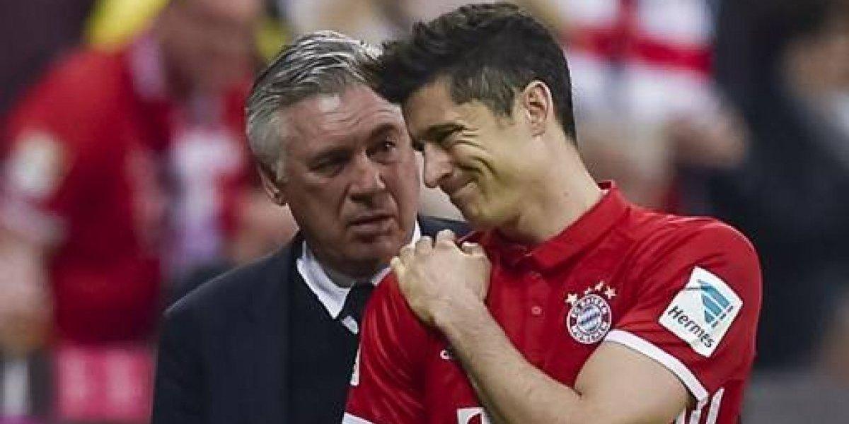 Sin códigos: Robert Lewandowski le pegó duro a su ex jefe en Bayern Carlo Ancelotti