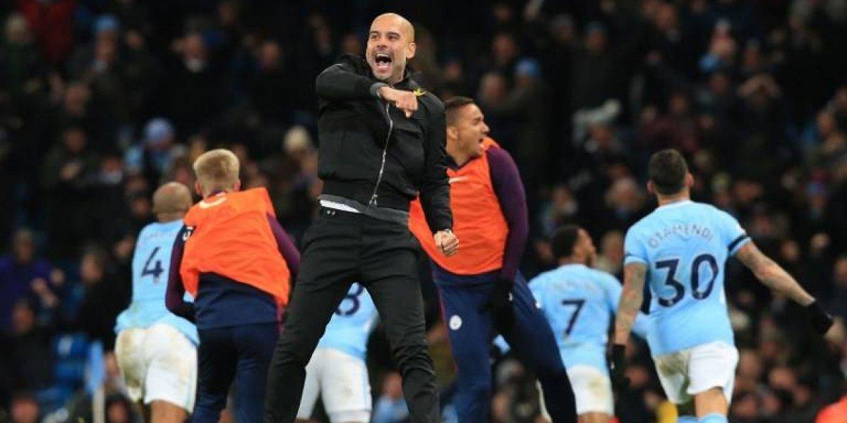 El Manchester City desata la locura de Guardiola con una victoria en el último suspiro