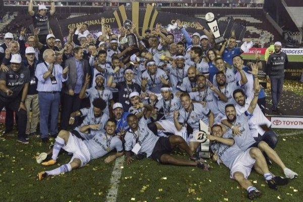 Gremio celebró su tercer título de Libertadores / imagen: AFP