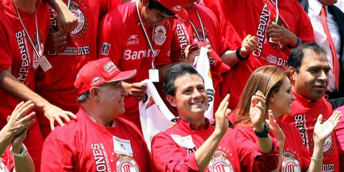 Peña Nieto exige al Toluca a comprometerse por el título