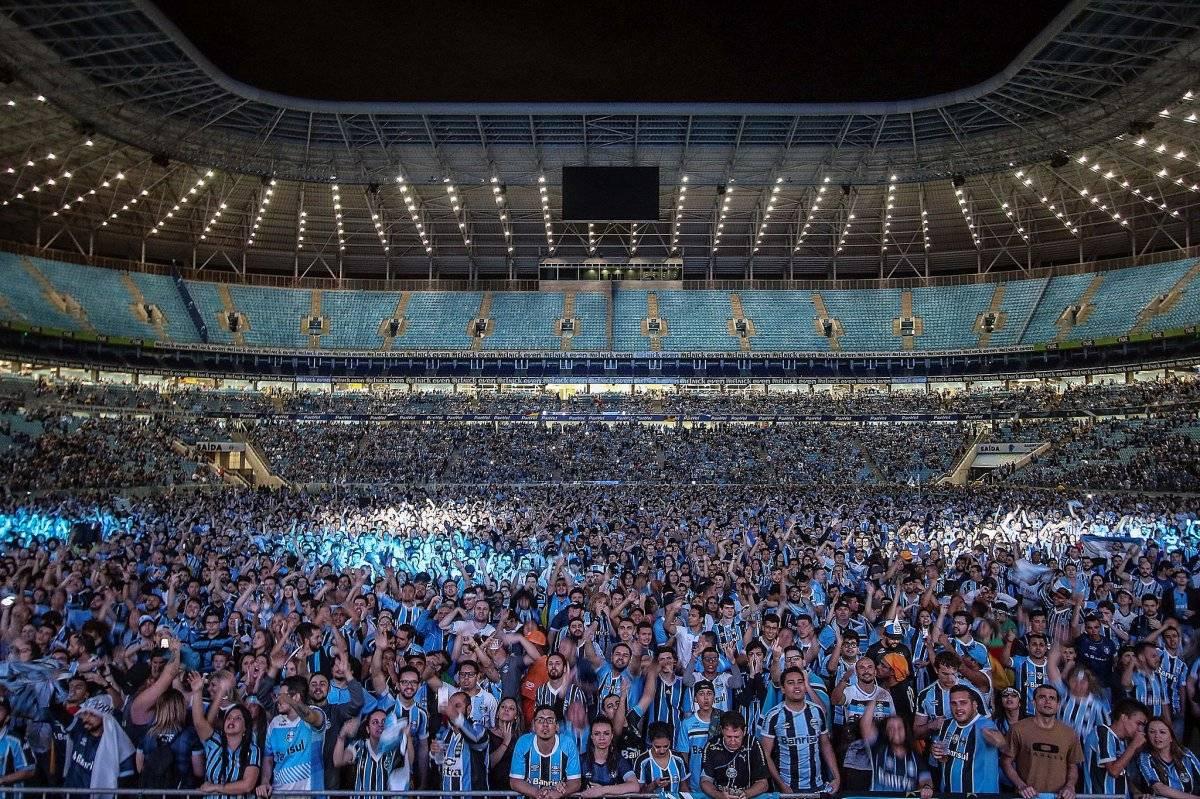 Torcida acompanha o jogo em Porto Alegre Rodrigo Rodriguez/Grêmio