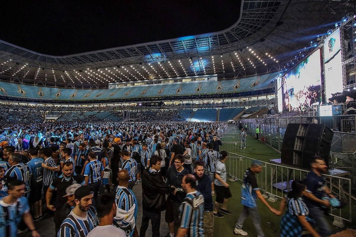 Torcida comemora em Porto Alegre Rodrigo Rodriguez/Grêmio