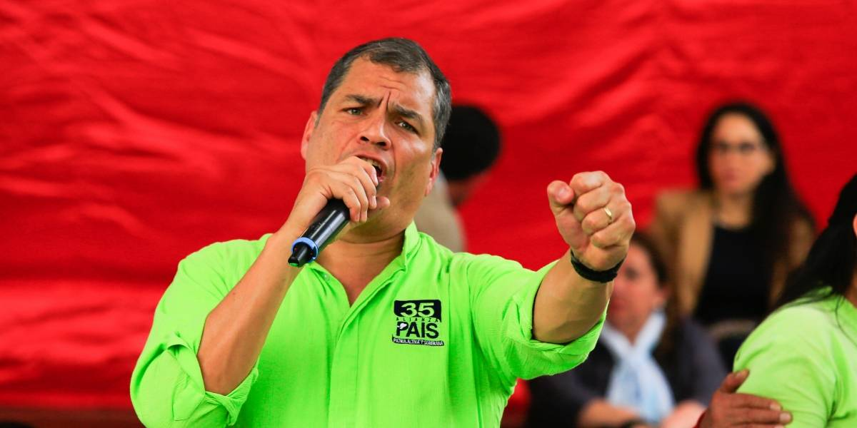 Rafael Correa llega a la Corte Nacional a visitar a Jorge Glas