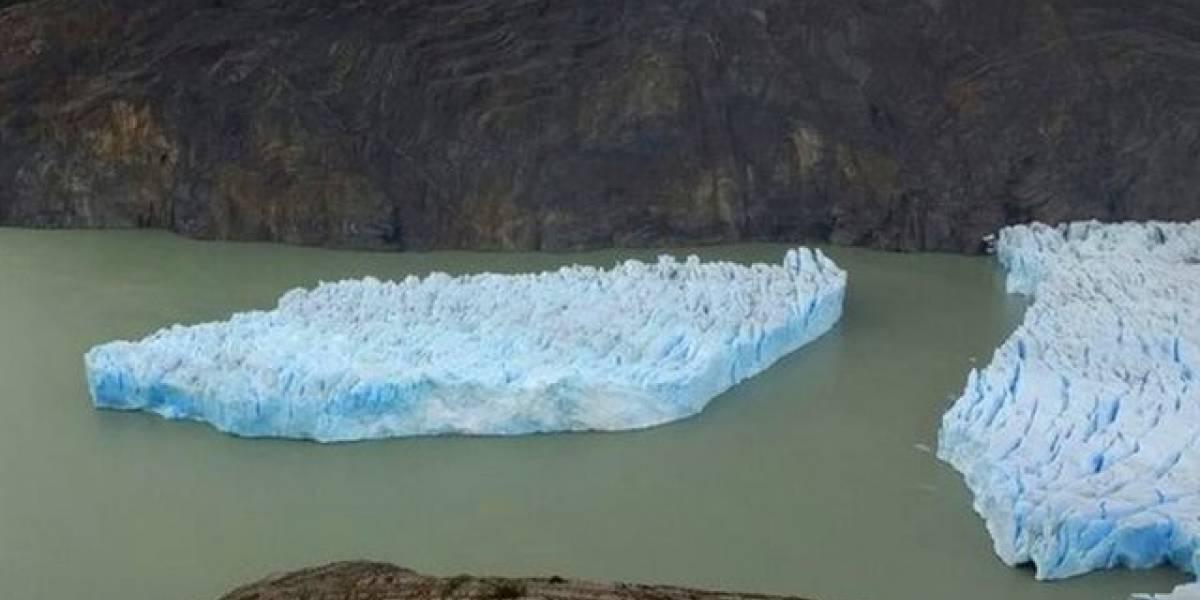 Por qué intriga a los científicos el inusual iceberg gigante que se desprendió del glaciar Grey de Chile