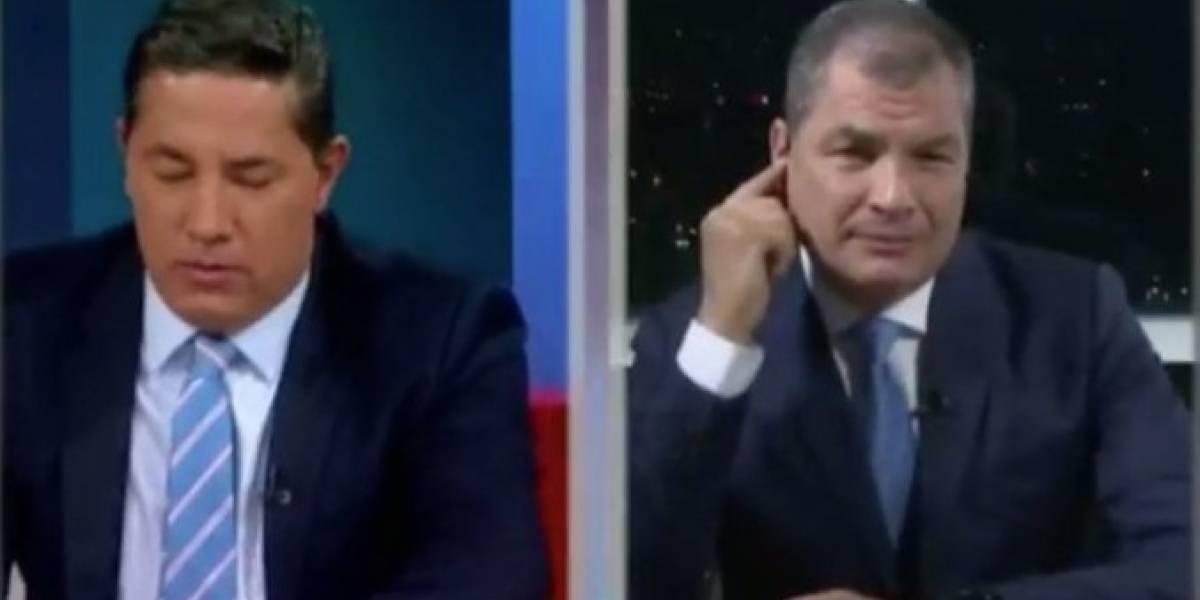 CNN 'hace quedar mal' a Rafael Correa en vivo