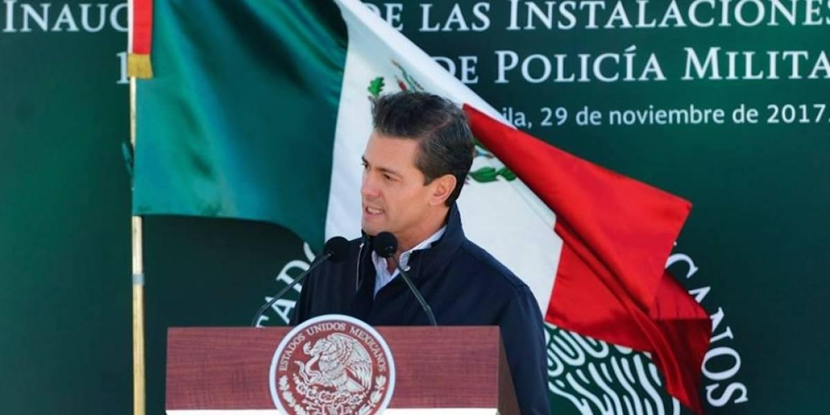 Ley de Seguridad Interior, una imperiosa necesidad: Peña Nieto