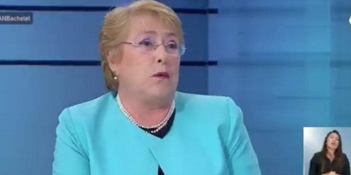 """Presidenta Bachelet recrimina a  Piñera: """"No me parece bien que haya caído en una campaña del terror"""""""