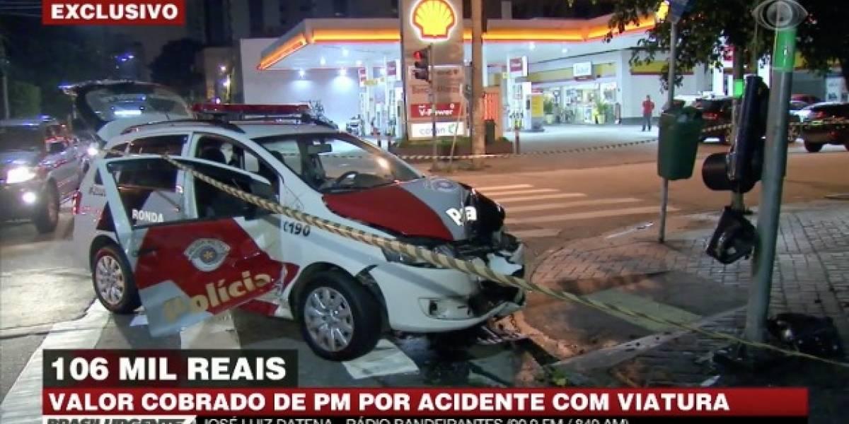 PM de São Paulo cobra R$ 106 mil de policial por bater viatura