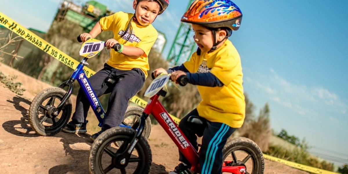 Los niños de hasta 5 años se toman Movicenter en bicicleta
