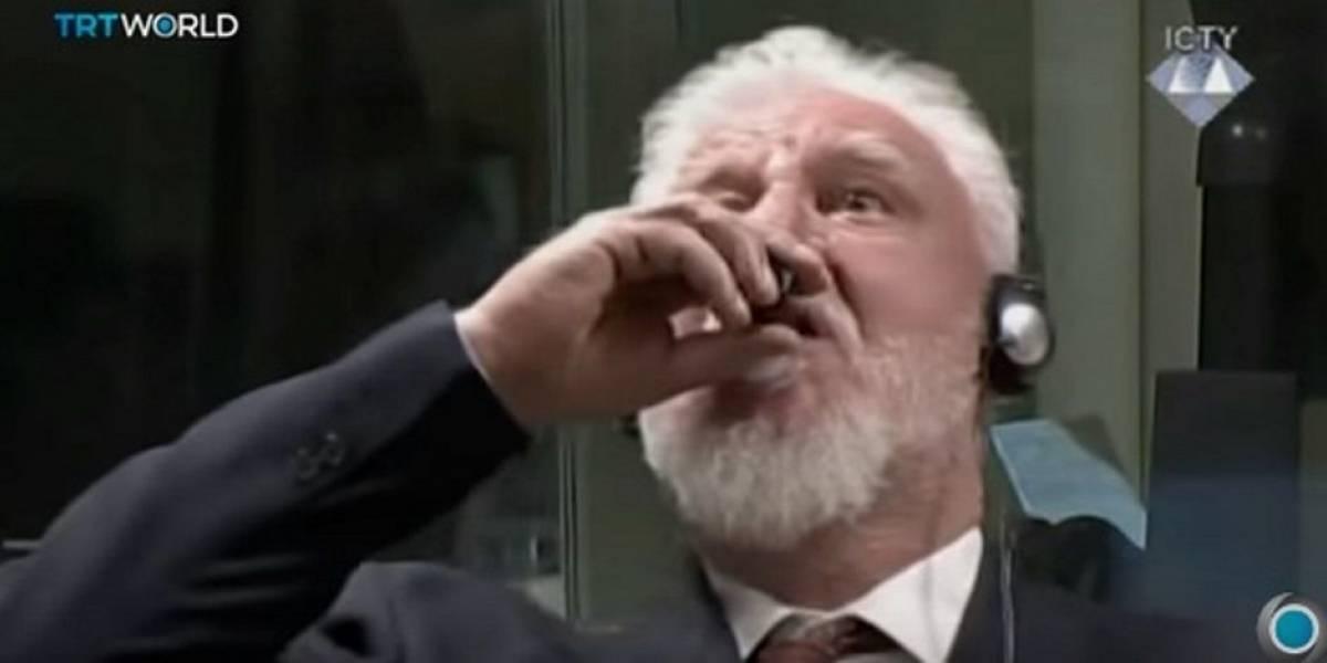 Ex-general toma 'veneno' após ouvir sua sentença em tribunal
