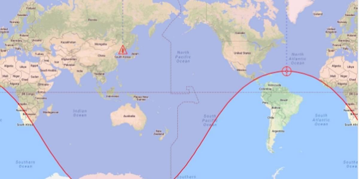 Brasileiros fazem piada com detalhe em rota de míssil norte-coreano